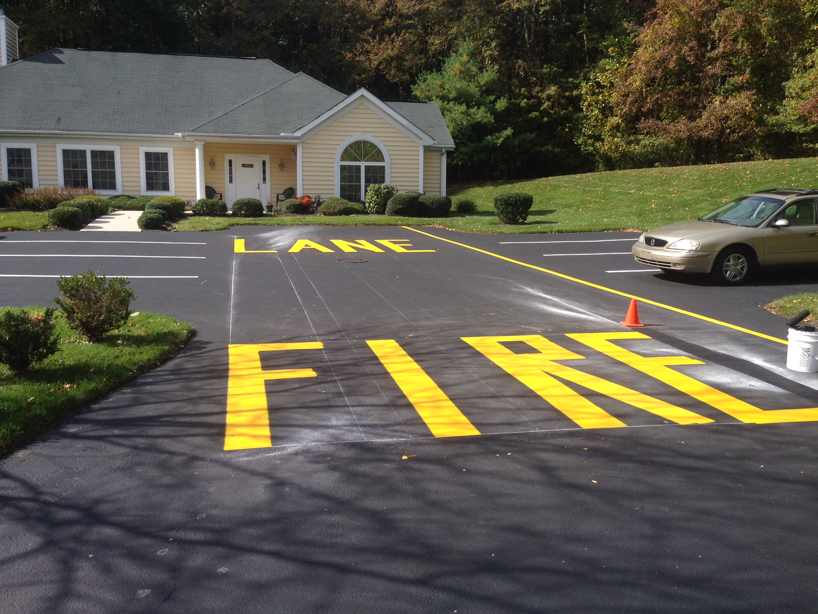 Delaware Parking Lot Line Striping
