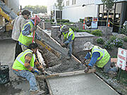 Concrete Services Pour Sidewalk
