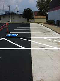 Concrete Parking Stall Pads