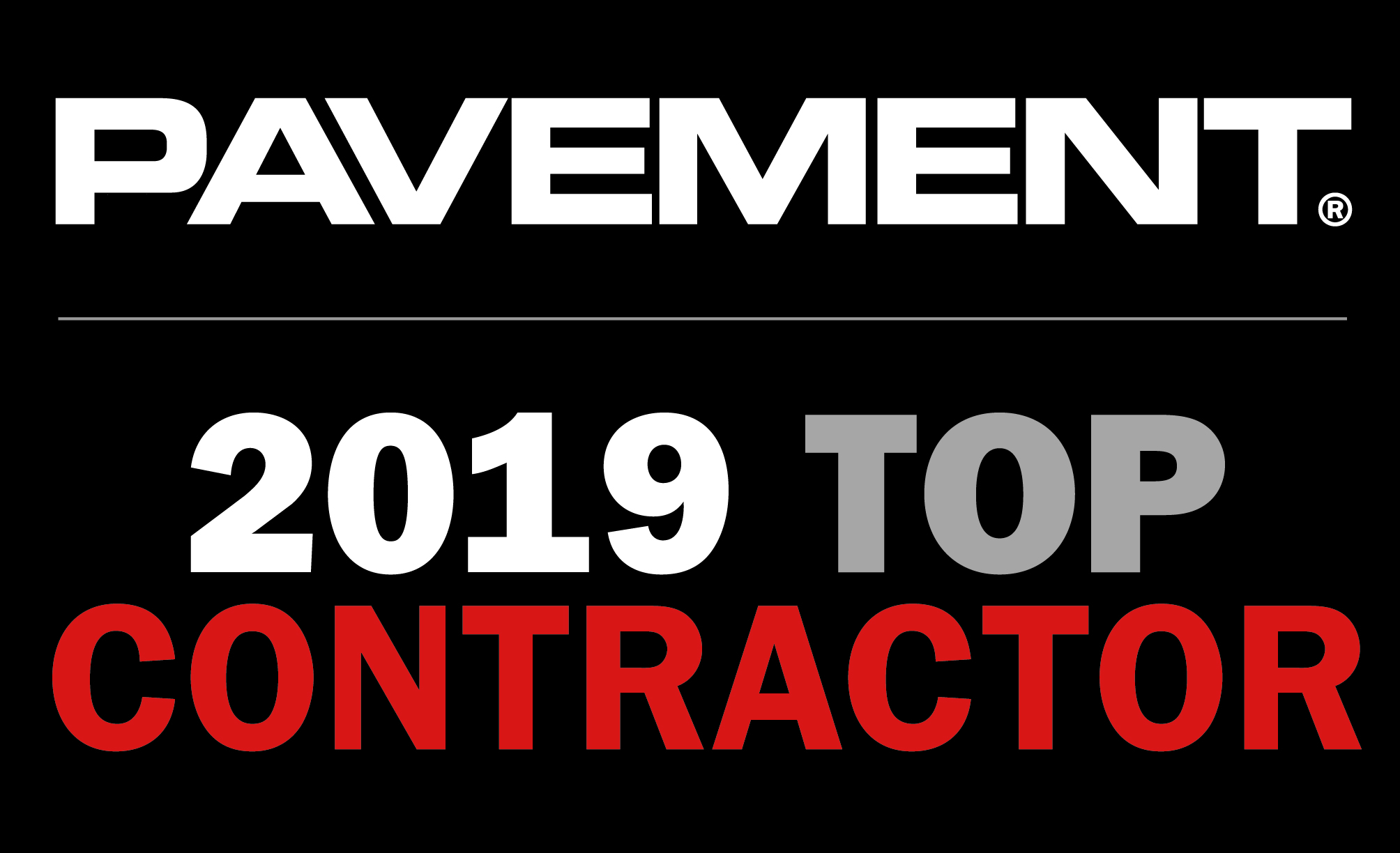 2019 Pavement Top Contractor Award
