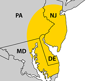 Paving Service Area Map