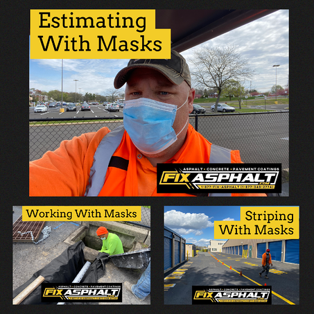 NJ Parking Lot Paving Company Working With Masks