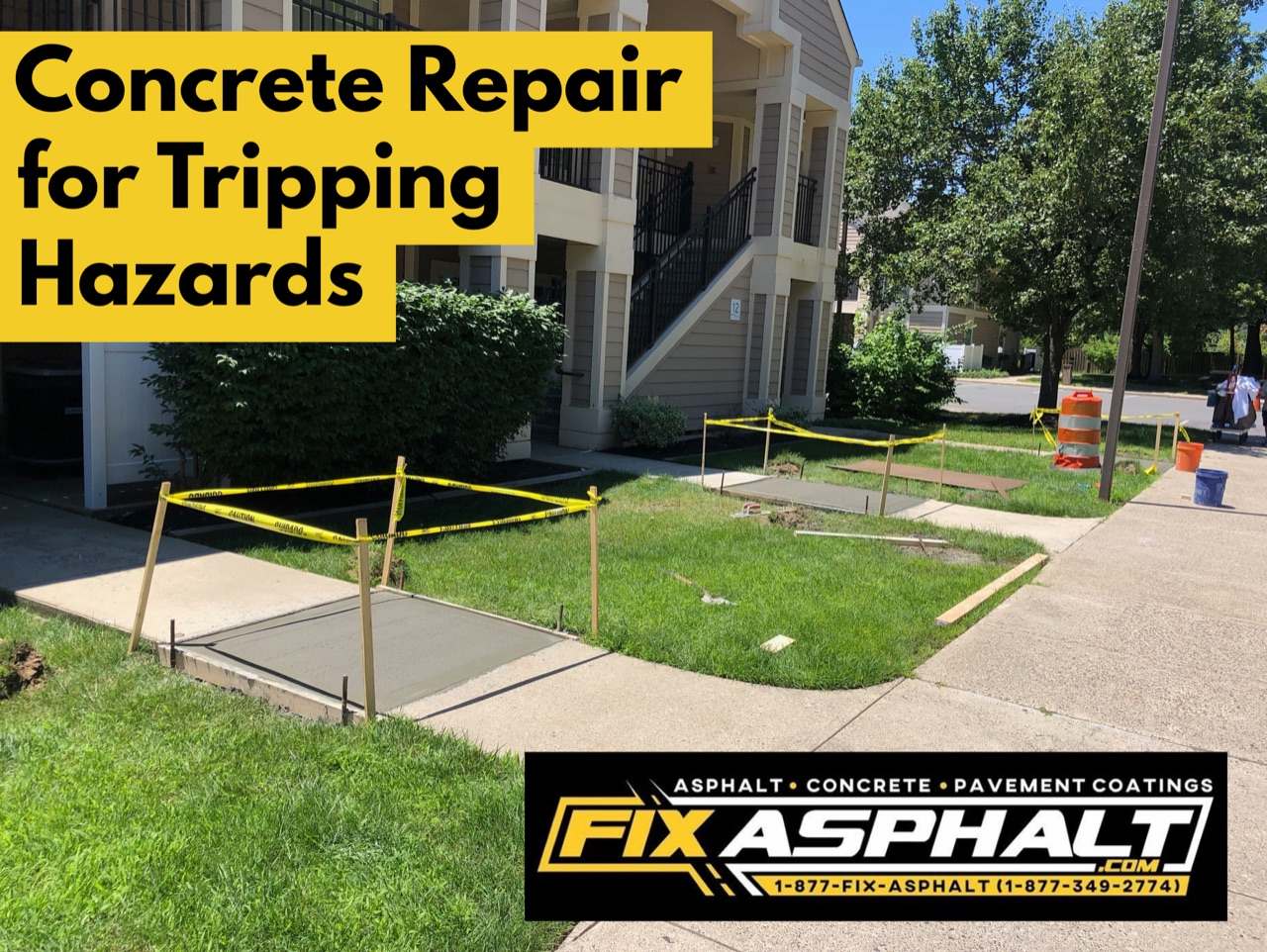 Concrete Repair for Tripping Hazards