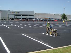 cost to line stripe a parking lot