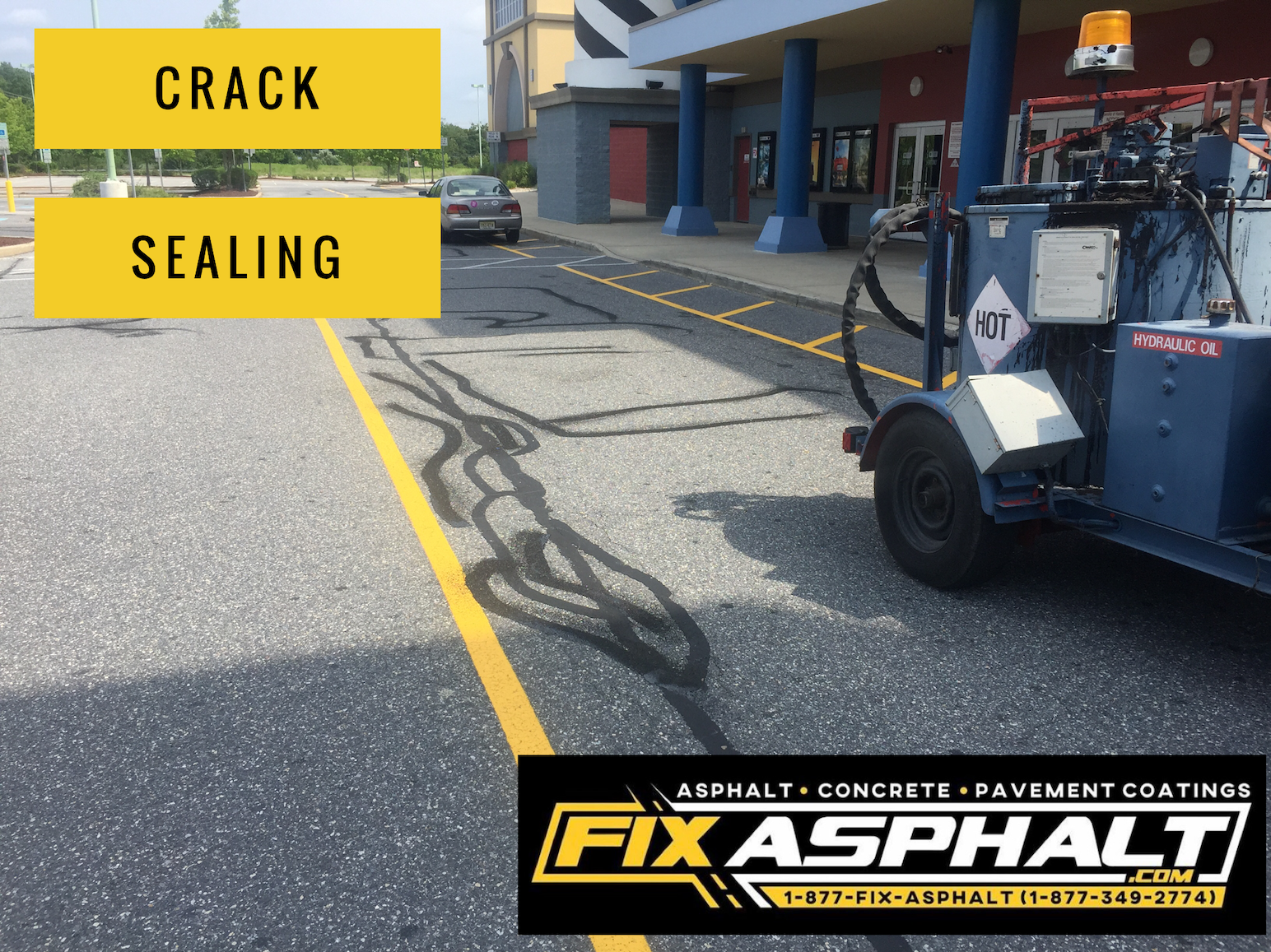 Hot Rubberized Crack Sealing