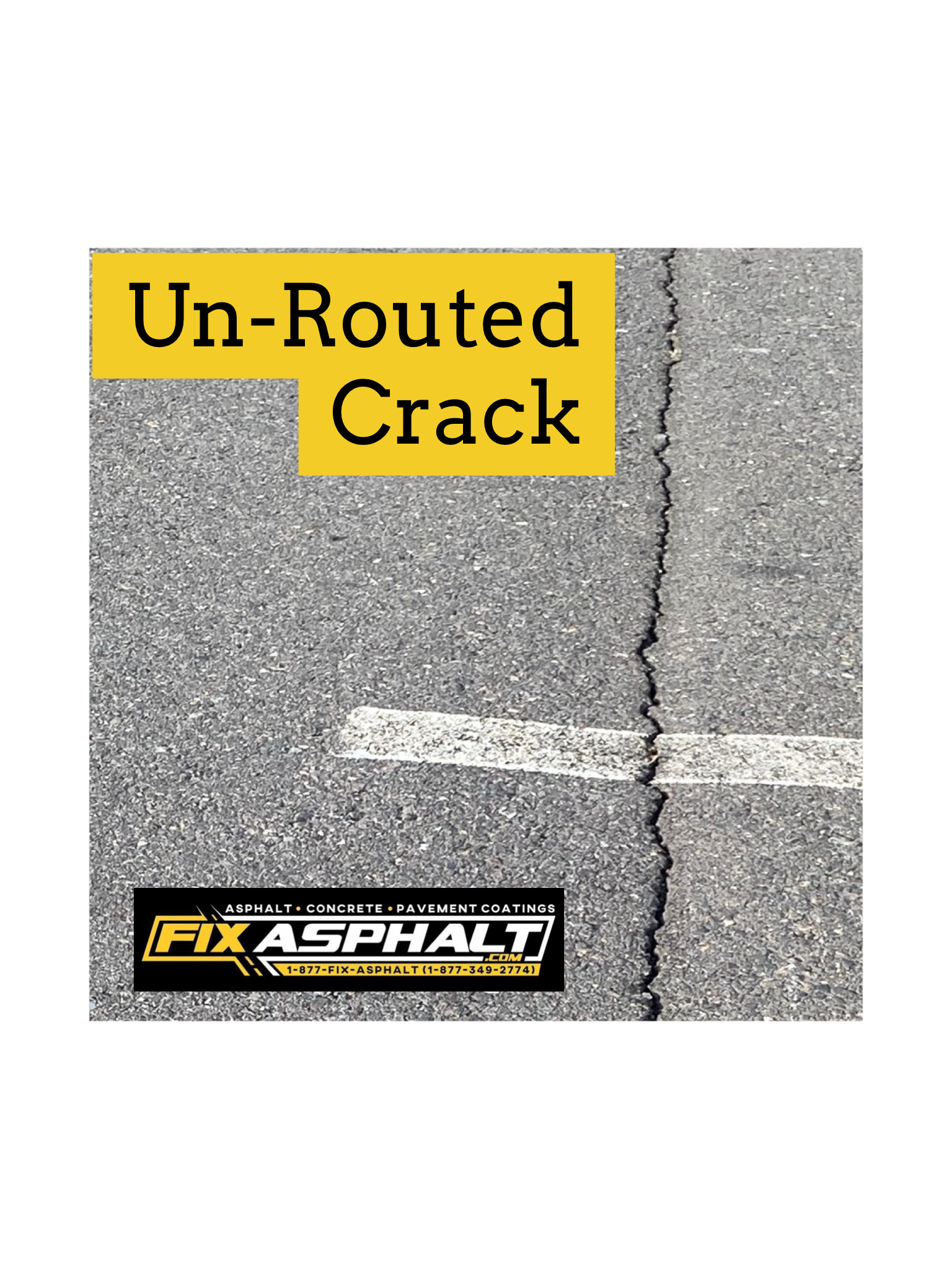 NJ Parking Lot Crack Routing